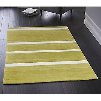 Boston Stripe Green  Rectangle Rugs Plain/Nearly Plain Rugs