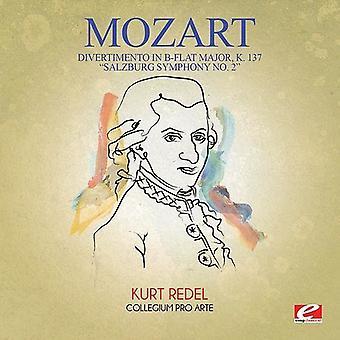 Mozart - Divertimento en importación de Estados Unidos si bemol mayor K 137 [CD]