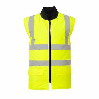 sUw Mens Hi-Vis Safety 4-in-1 Kontrast Traffic Workwear Jacke