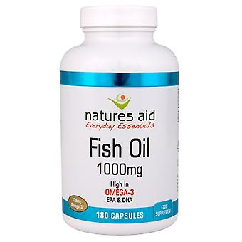 Natures Aid Fish Oil 1000mg (with Vitamin E) , 180 Capsules
