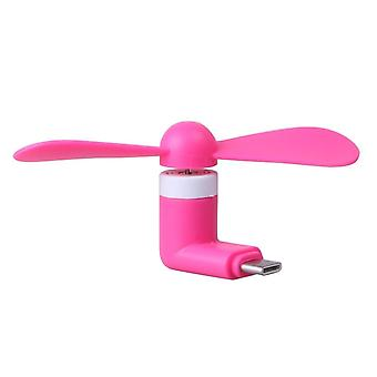 (Hot Pink) Mobile Cell Phone Portable Pocket Sized Fan Accessory Micro-USB Connector For Oppo F3 Plus