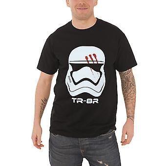 Official Mens Star Wars T Shirt Stormtrooper Finn Traitor FN-2187 Helmet Black