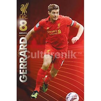 Liverpool Gerrard 1213 affisch affisch Skriv