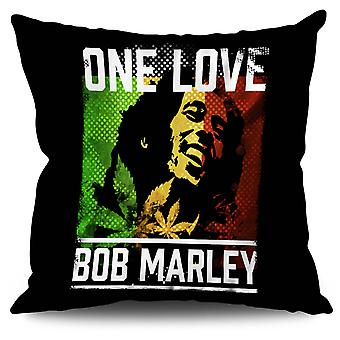 One Love Marley Pot Linen Cushion 30cm x 30cm | Wellcoda