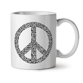 Peace Hippy Vintage NEW White Tea Coffee Ceramic Mug 11 oz | Wellcoda
