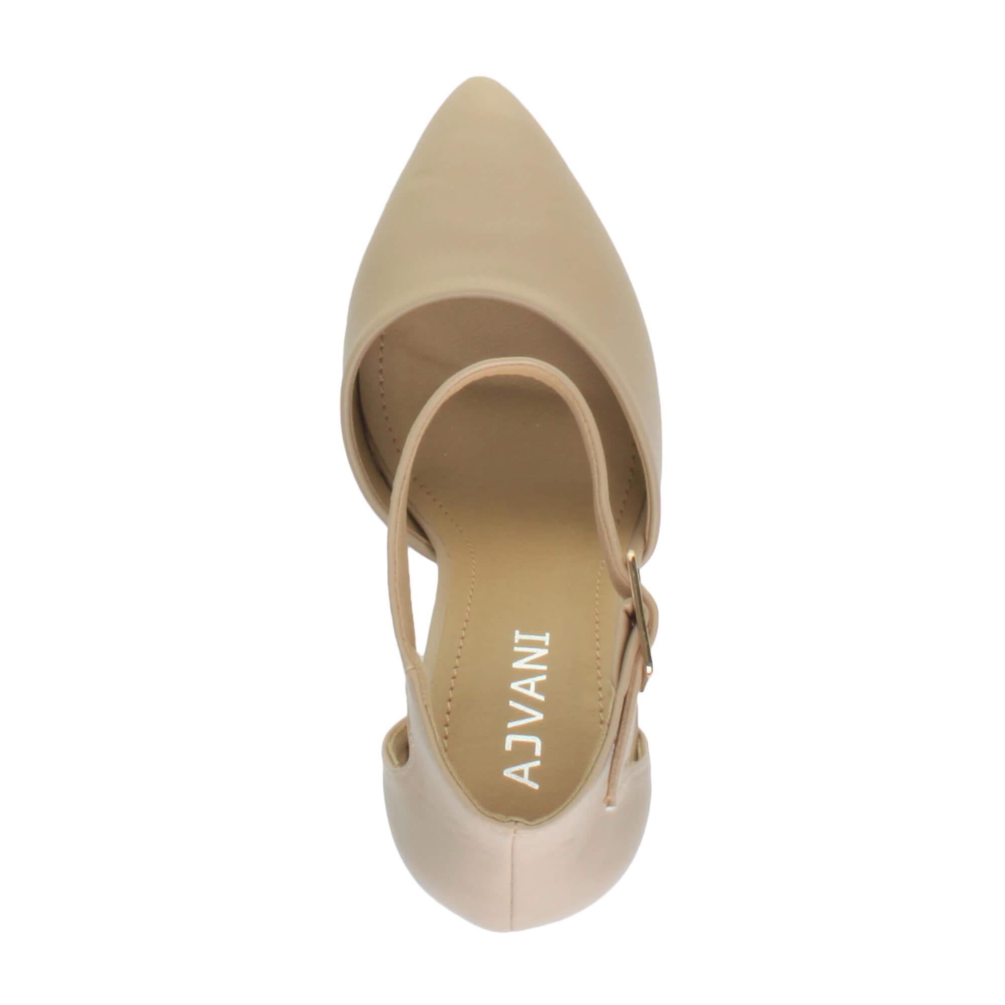 Boucle De La Sangle Ajvani Womens Bloc Haut Talon Brassard Cheville Fait Sandales Pompes Chaussures Cour