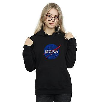 NASA Frauen klassische Insignia Logo Distressed Hoodie