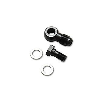Vibrant Performance 11501 Male Banjo Fitting Size: -3AN x 8mm-1.25 Metric Aluminum Incl. 2 Washers Anodized Black Male B