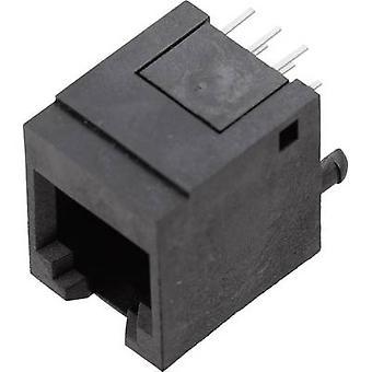 BEL Stewart Konektörler 1410-4000-07 1410-4000-07 RJ12 Soket, düz Siyah