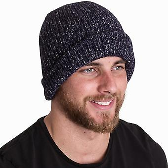Outdoor Look Mens Tain Stretchy Bob Hat Military Cuff Beanie