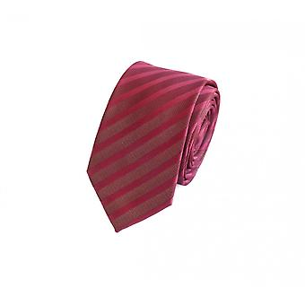 Schlips Krawatte Krawatten Binder 6cm rot gestreift uni Fabio Farini