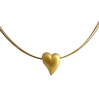 Herzkette Anhänger Herz Halskette HERZ silber vergoldet