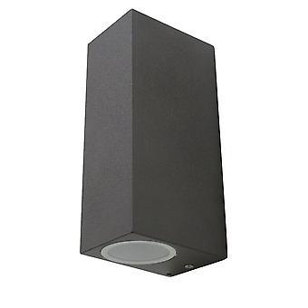 Wall lamp UpDown Square dark grey for indoor + outdoor GU10 10428