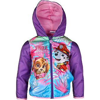 Girls ER1177 Paw Patrol Lightweight Hooded Jacket / Raincoat with Bag Size 3-6 Years