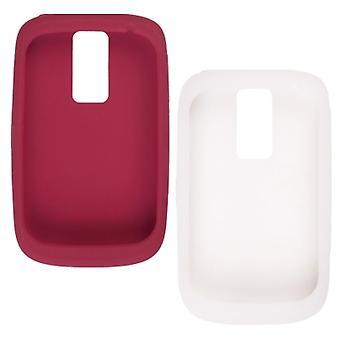 OEM BlackBerry Bold 9000 geeli ihon asia - (Red/Teachers & valkoinen)