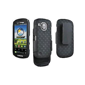 Samsung Continuum i400 Galaxy S Shell kotelossa Combo - musta (suurin pakkaus)