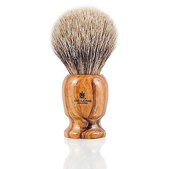 Vie-Long 16727 White Badger Shaving Brush
