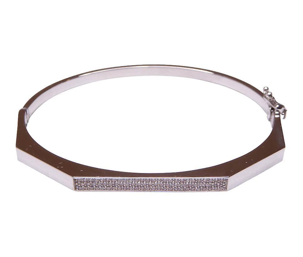 14 k White Gold Bracelet