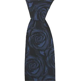 David Van Hagen Wedding Rose Silk Tie - Navy