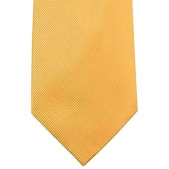 Knightsbridge Neckwear planície Diagonal com nervuras Tie - amarelo