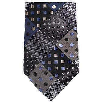 Gravatas de Knightsbridge Multi padrão Tie - cinza