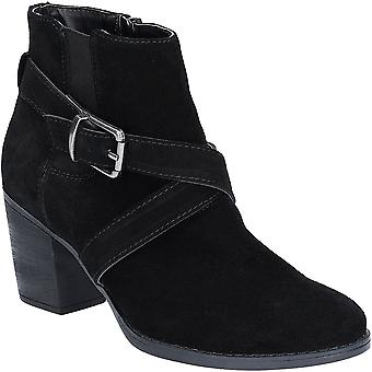 Hush Puppies Womens Shilo Block Heeled Chelsea Ankle Boots