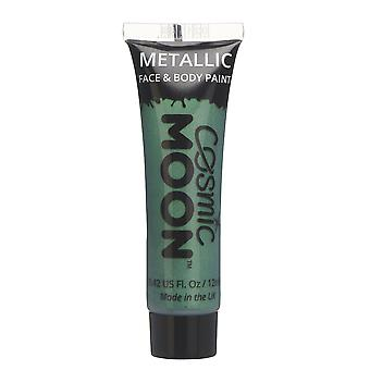 Cosmic Moon - Metallic Face Paint makeup for the Face & Body - 12ml - Create mesmerising metallic face paint designs! - Green