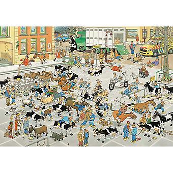 Jan Van Haasteren The Cattle Market Jigsaw Puzzle (2000 Pieces)