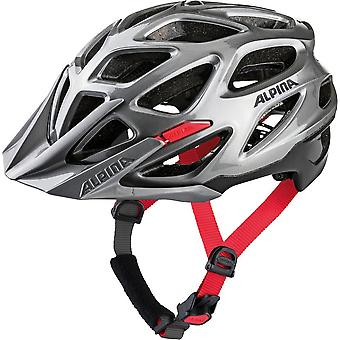 Alpina Mythos 3.0 MTB Fahrradhelm // darksilver/black/red