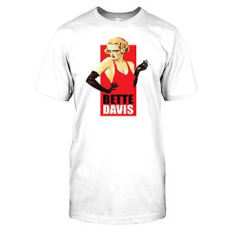 Bette Davis-vestido vermelho Mens T-shirt