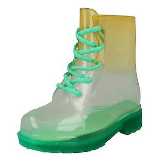Spot na gradiant transparentné čipka up Welly boot