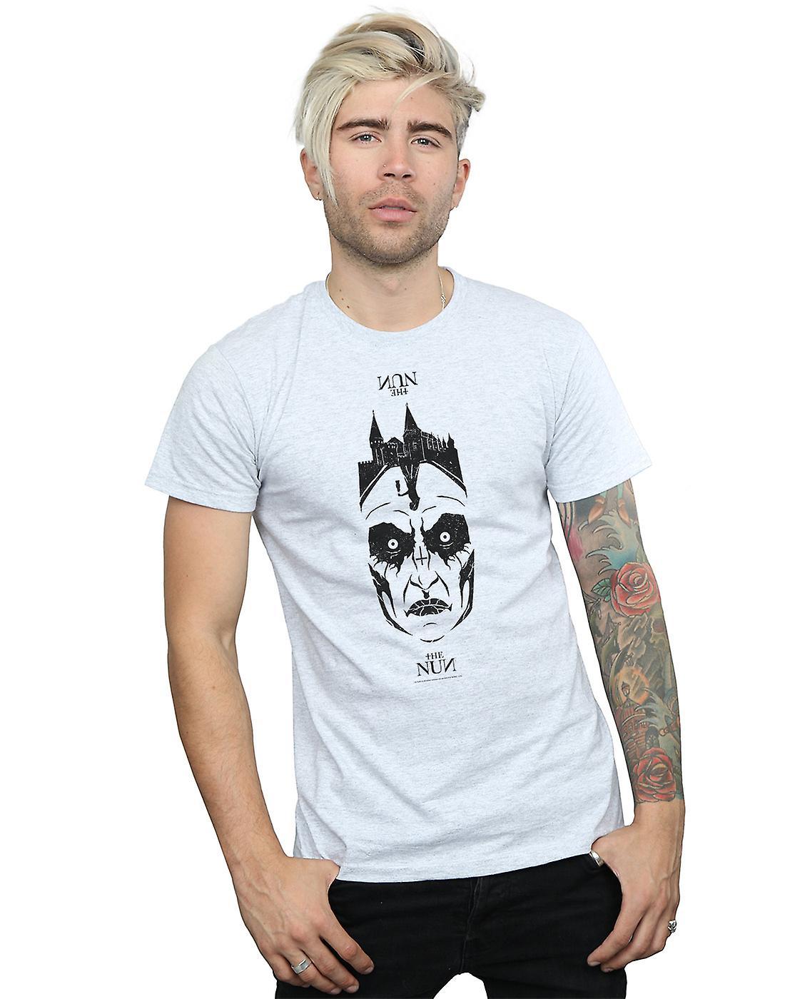 The Nun Men's Distressed Face T-Shirt