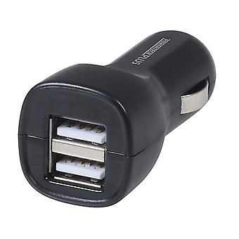2.4A Dual USB Car Cigarette Lighter Adaptor