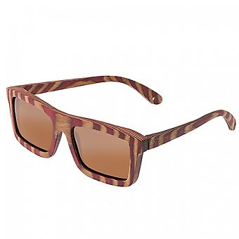 Spectrum Parkinson Wood Polarized Sunglasses - Cherry Zebra/Brown