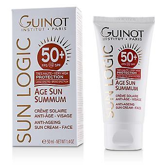 Guinot Sonne Logik Alter Sonne Summum Ant-Aging Sonnencreme für Gesicht Spf 50 + - 50ml / 1,7 Unzen