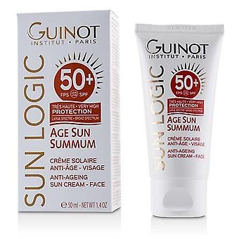 Guinot Sun Logic Age Sun Summum Ant-ageing Sun Cream For Face Spf 50+ - 50ml/1.7oz