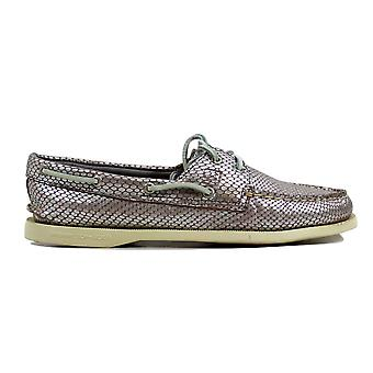 Sperry Authentic Original Python Silver Silver  Women's STS93529 Size 10 Medium