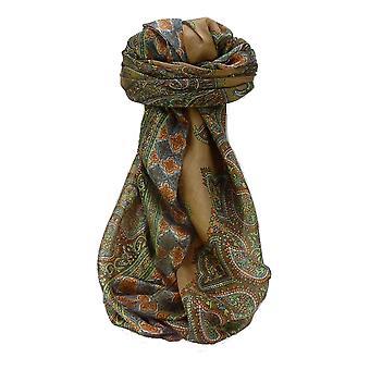 Maulbeere traditionelle quadratischen Seidentuch Obi Kastanie von Pashmina & Seide