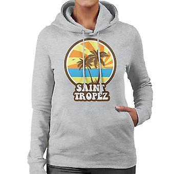 Saint Tropez Beach Retro Women's Hooded Sweatshirt