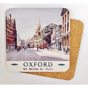 Oxford Old Railway Advert Cork Backed Drinks Coaster (se)