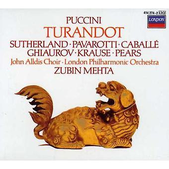 Pavarotti/Sutherland/Caballé/Mehta/London Philharm - Puccini: Turandot [CD] USA import