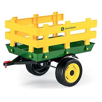 John Deere Stake Side Trailer For Ground Tractors Yellow/Green- Peg Perego