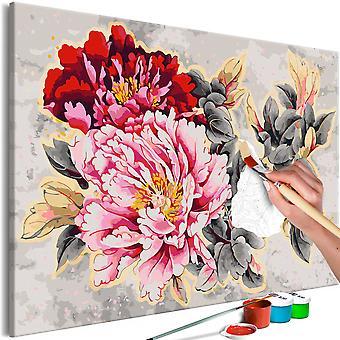 Doe-het-zelf op canvas schilderen - Beautiful Peonies