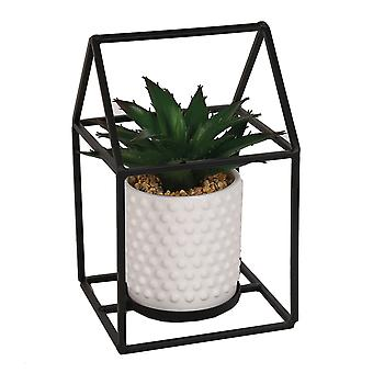 Straits Deco Metal Square Plant Pot, 20cm