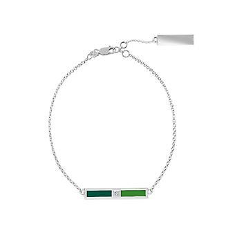 Stetson University Diamond Link Bracelet In Sterling Silver Design by BIXLER