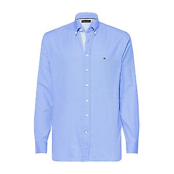 Tommy Hilfiger Flex Jaspe Dobby Camicia Blu