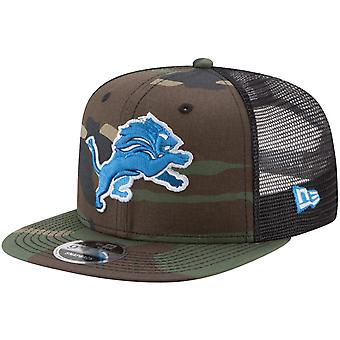 New Era 9Fifty Mesh Snapback Cap Detroit Lions wood camo