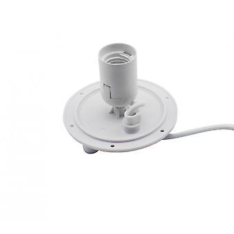 Mantra E27 plaat 1 licht CFL indoor met schakelaar, wit