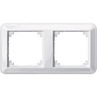 Merten 2x Frame Atelier-M Polar white glossy 388219