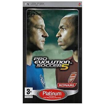 Pro Evolution Soccer 5 Platinum (PSP)-fabriken förseglad